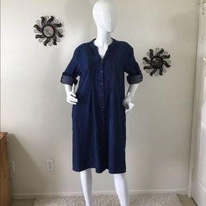 Vintage National Cotton Denim Dress Large